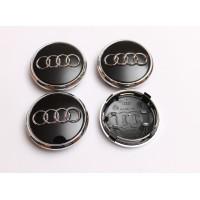 Cepovi za Alu felne Audi prsten Crni 76mm