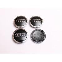 Cepovi za Alu felne Audi prsten Crni 68mm